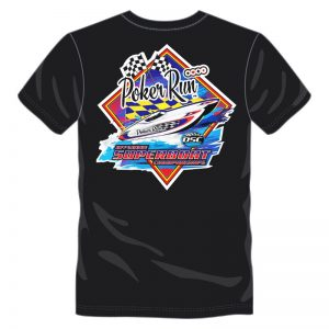 Poker Run Diamond Print T-Shirt (Black)