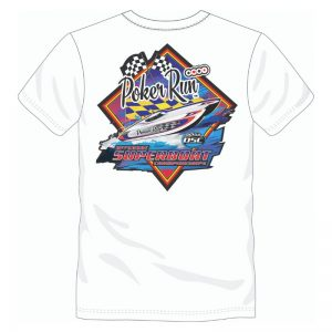 Poker Run Diamond Print T-Shirt (White)